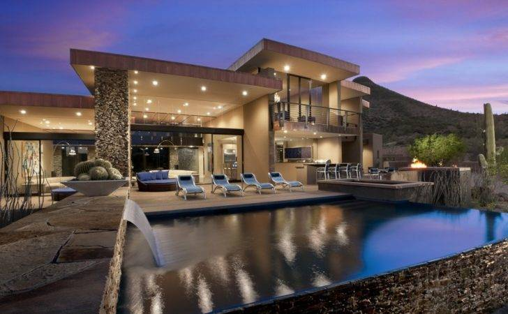 World Architecture Beautiful Modern House Desert