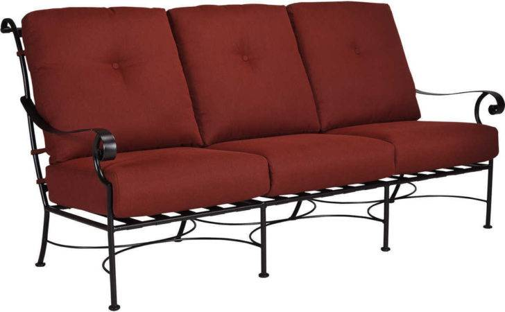 Wrought Iron Sofa Woodard Terrace Cushion