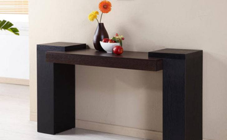 Yankton Modern Two Tone Console Table Ebay