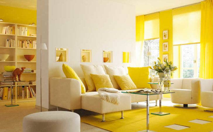 Yellow Living Room Interior Design Ideas
