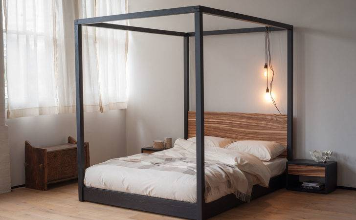 Zebrano Cube Poster Bed Natural Company